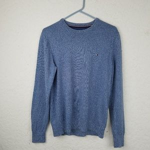 Men Tommy Hilfiger S small blue gray Sweater crew